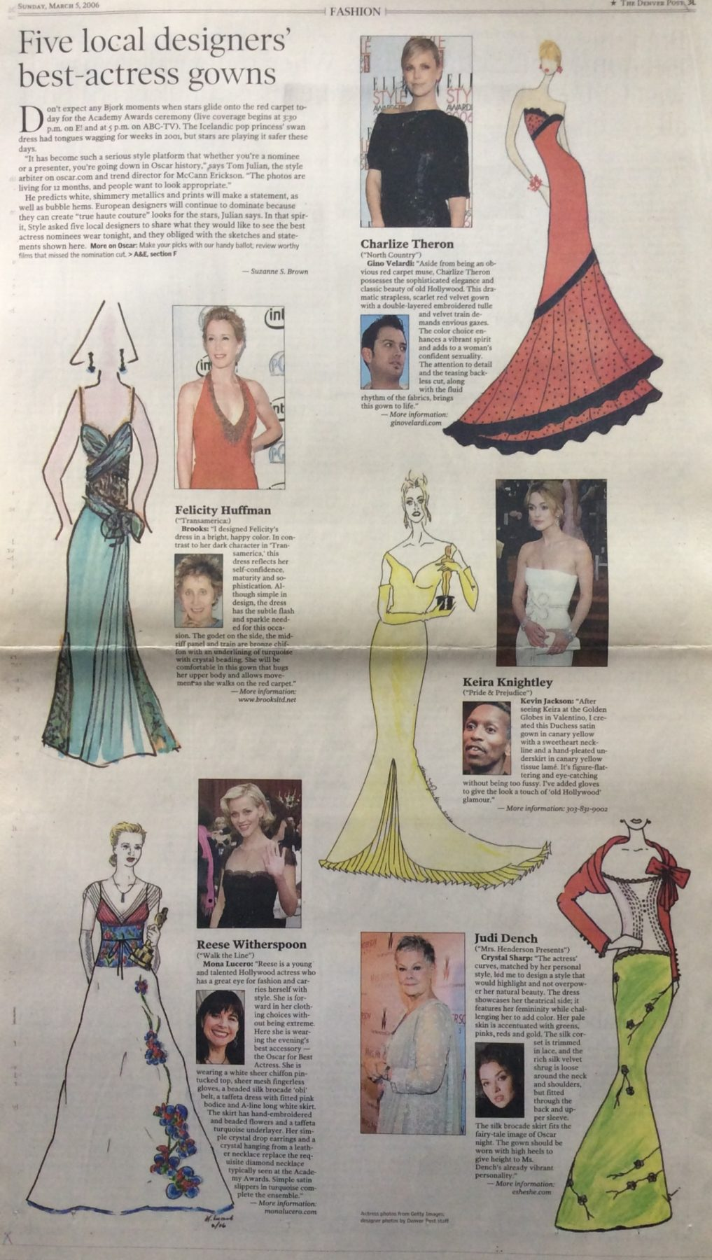 Denver Post Local Designers Oscars