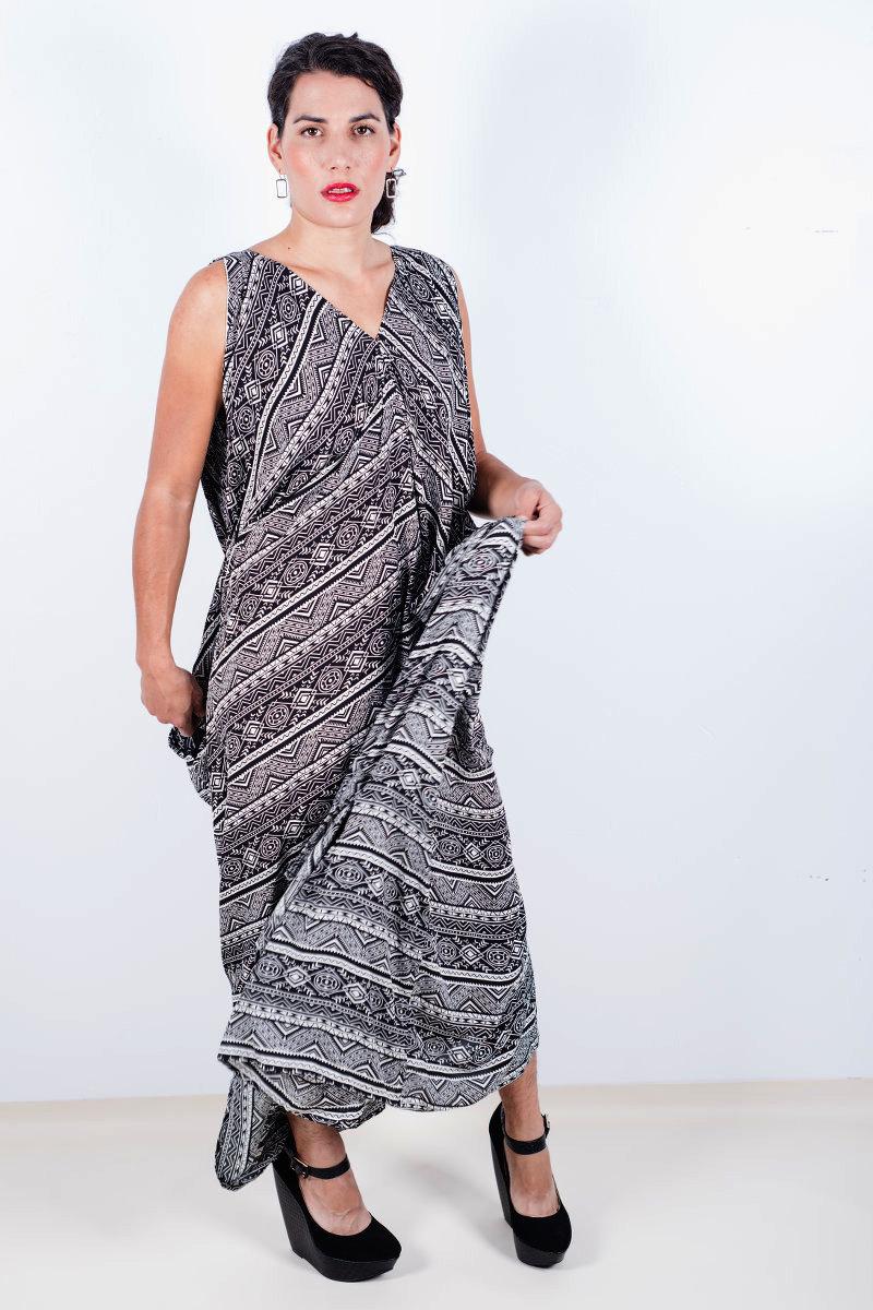 "876e2bfa35 ""Tribal Cocoon"" Caftan Dress ..."