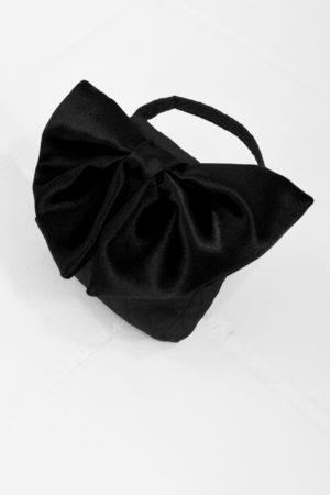 Mona Lucero Baby Bag Black Bow Side