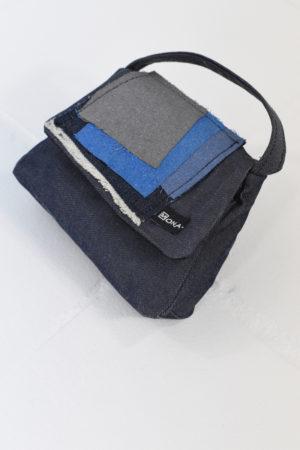 Mona Lucero Baby Bag Blue Moderne Side