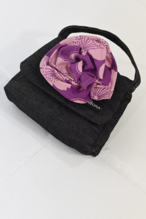 Mona Lucero Baby Bag Purple Flower Side