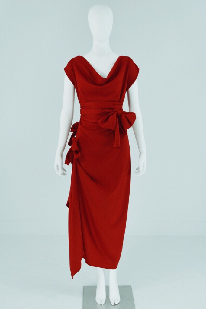 Mona Lucero Red Dress with Bows