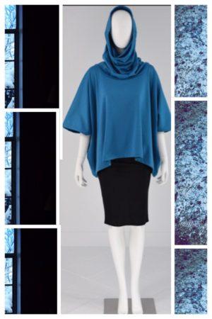 Chrysalis Hoodie Top Blue
