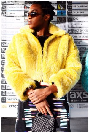 Faux Fur Yellow Shrug